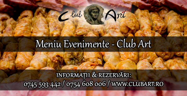 Meniu evenimente Club Art