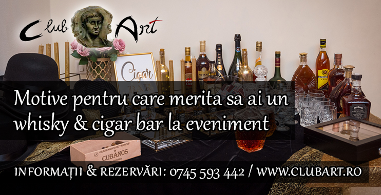 Motive pentru care merita sa ai un whisky & cigar bar la eveniment