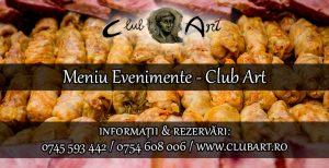 Meniu evenimente Club Art