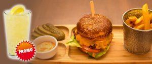 promotie meniu club art burger + limonada